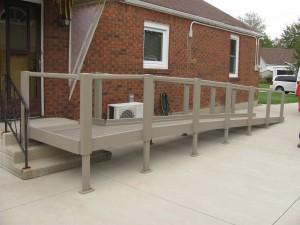 Qramp Module 8: 5' x 5' 90 Degree Platform - Broadened Horizons Direct
