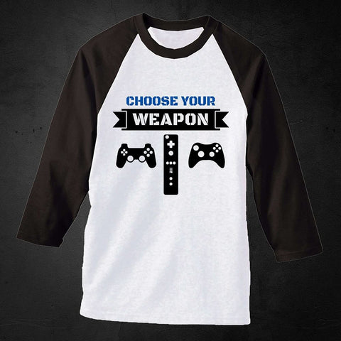Choose your weapon gamer Long Sleeve Tee