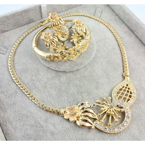 Fashion Top Quality African Jewelery Set Rhinestone Necklace Sets - Abco... Store