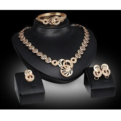 Interlinked circular Jewellry  Set - Abco... Store