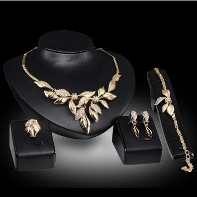 Nature Collection Elegant Floral Necklace Set - Abco... Store