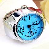 Dial Quartz Analog Finger Watches Creative Steel Cool Ring Elastic - Abco... Store