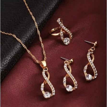 Eternal  Love Crystal Delicate Jewellery Sets - Abco... Store