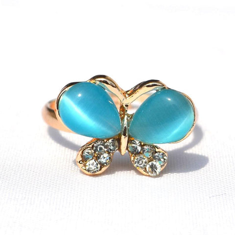 Butterfly Opal Rhinestone Rings - Abco... Store