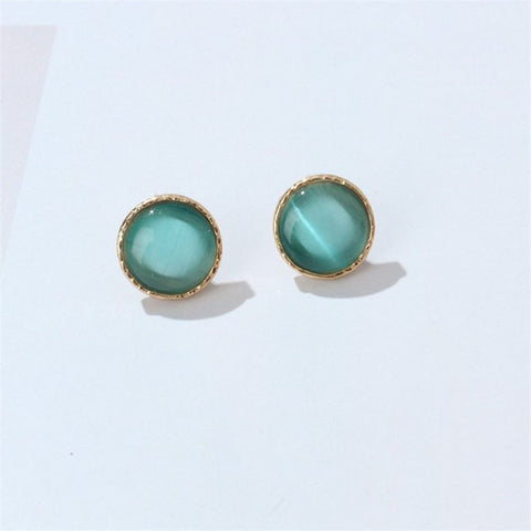 Opal Stone Stud Earrings - Abco... Store