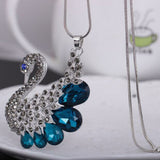 Pendant Necklaces Swan Crystal Necklace Long Sweater Chain - Abco... Store