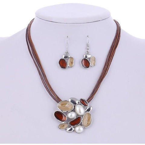 Summer Style Enamel Delicate Lucite Design Jewellery Set - Abco... Store