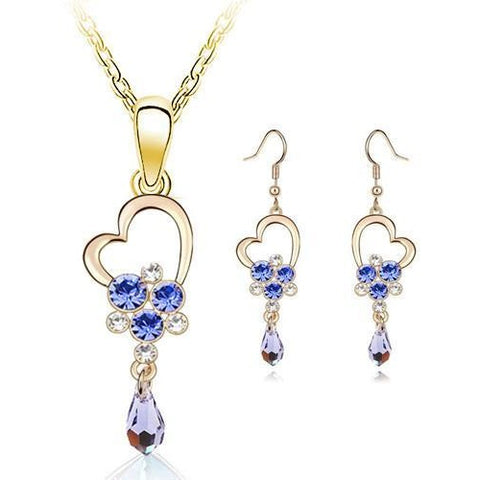 New Fashion Hollow heart-shaped Long Earring Jewelry Sets - Abco... Store