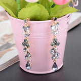New Long Elegant Crystal Rhinestone Drop Earrings - Abco... Store