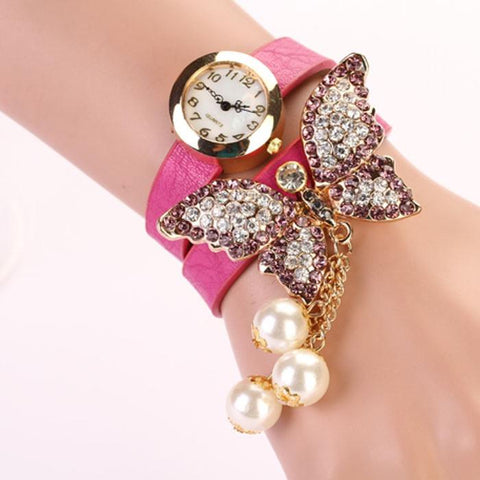Butterfly Quartz Analog Watch Bracelet - Abco... Store