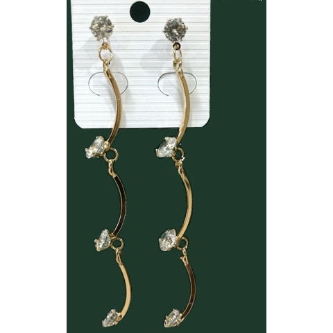 Rope long earrings golden - Abco... Store