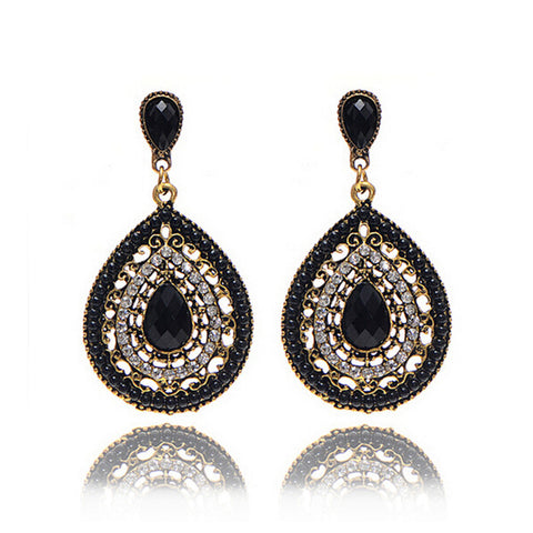 Vintage Antique Party Dresses Style Enamel Beads Drop Earrings