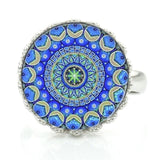 New Sacred Geometry charms classic  ring - Abco... Store