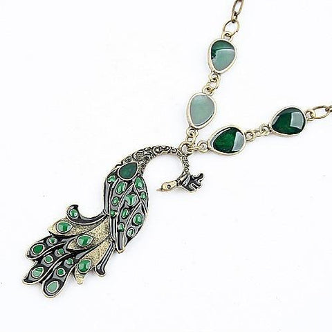 Vintage Peacock Necklace - Abco... Store