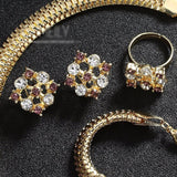 Imitation Crystal Jewelry Sets Gold - Abco... Store