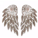 Angel Wings Earrings Silver - Abco... Store