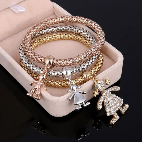 Gold Silver  Filled Charm Crystal  Bracelets - Abco... Store