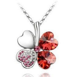 Austria Crystal Flower Pendants Necklace - Abco... Store