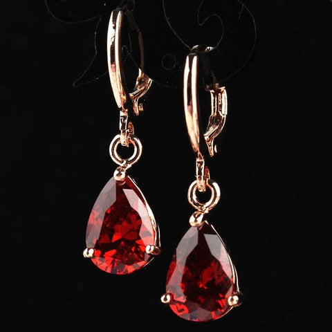 Garnet Red  Dangle Earrings - Abco... Store