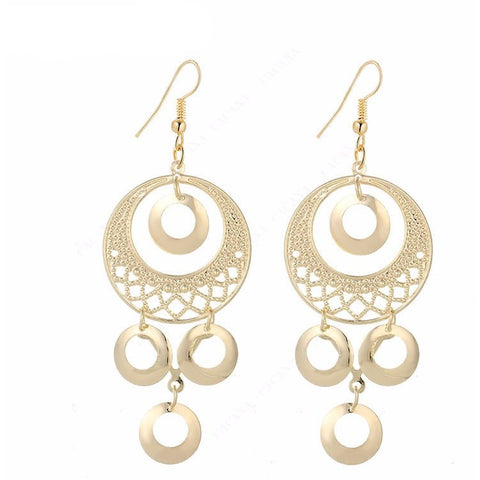 Long earrings round shape - Abco... Store