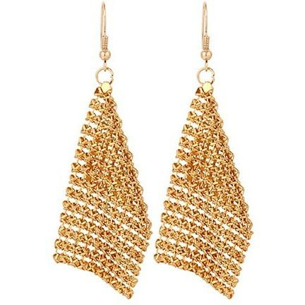 Gold Mesh Earrings - Abco... Store