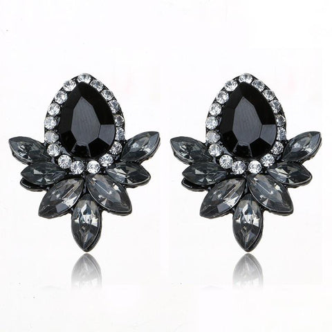 Crystal Stud Earrings Women Jewelry - Abco... Store