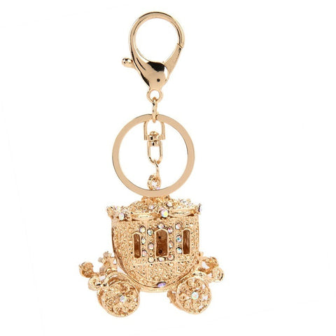 Rhinestone Chariotte key chain - Abco... Store