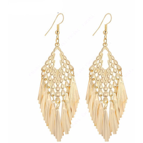 Tassel Skirt long Earrings - Abco... Store