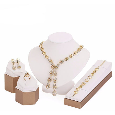 Tear Drop Elegant Exquisite Jewellery Sets - Abco... Store