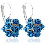 Rose Flowers Earring  Silver - Abco... Store