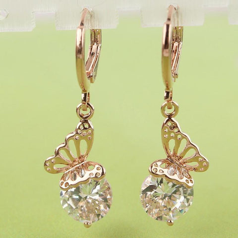 Butterfly Dangle Earrings - Abco... Store
