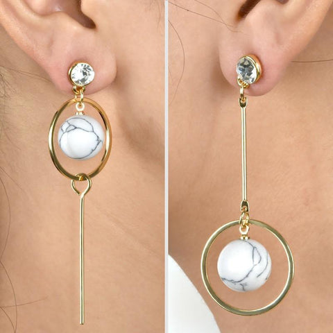 Open Circle Drop Earrings - Abco... Store