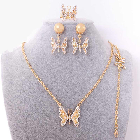 Flying Butterfly  Zircon Set - Abco... Store