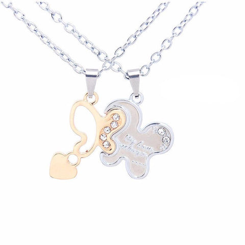 Chain Butterfly Pendant for Couples - Abco... Store