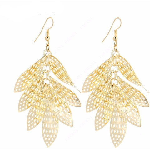 Shinning Leaves Earrings - Abco... Store