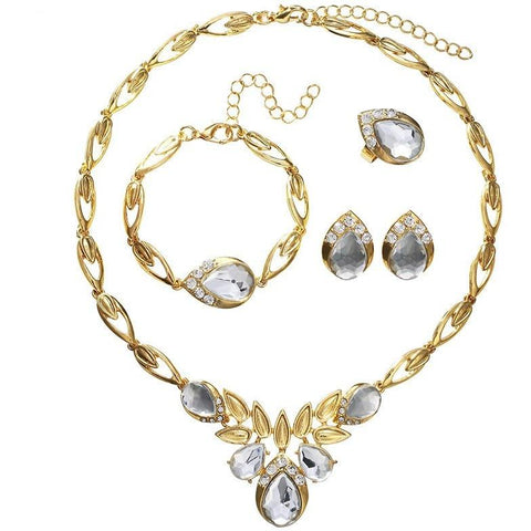 Drops And Twists Crystal Jewellery Set - Abco... Store