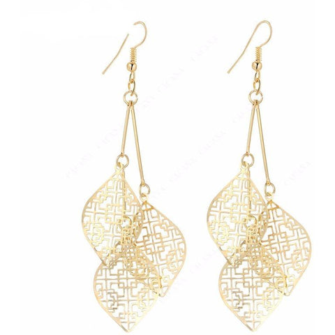 Hollow Leaves Earrings - Abco... Store