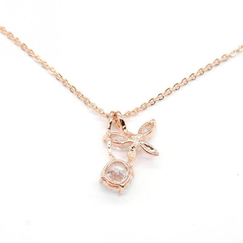 Rhinestone Crystal Clover Pendant Necklace - Abco... Store