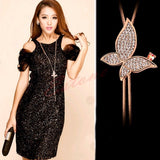 Luxury  Bowknot Long Pendant  Butterfly Sweater Chain - Abco... Store