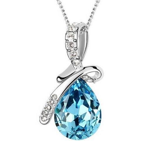Elegant Drop Crystal  Pendants Necklace - Abco... Store