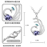 Crystal Peacock Austria Chain  Necklace - Abco... Store