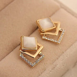 Opal Solid Geometry Studs Earrings - Abco... Store