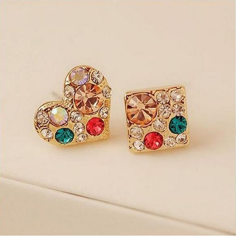 Love Square Crystal Stud Earrings - Abco... Store