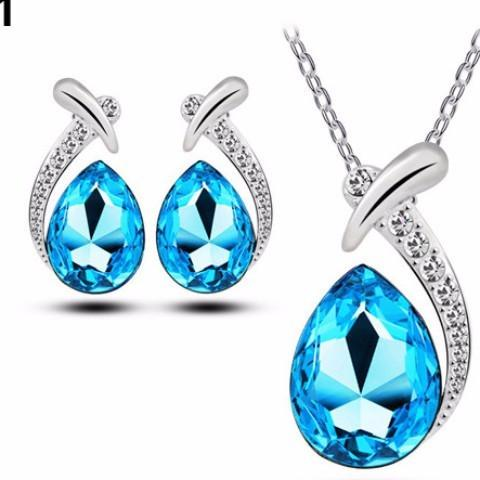 Drops of Ocean Necklace Earring Set - Abco... Store