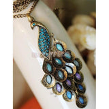 Colorful Peacock Pendant Necklaces - Abco... Store