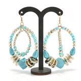 Vintage Style Circles Resin Beads Drop Earrings