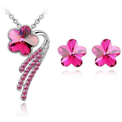 Star  Flower Crystal Stud Earring - Abco... Store