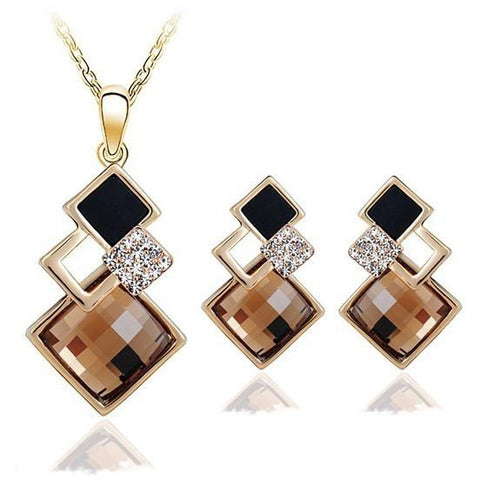 Geometry square jewellery set - Abco... Store