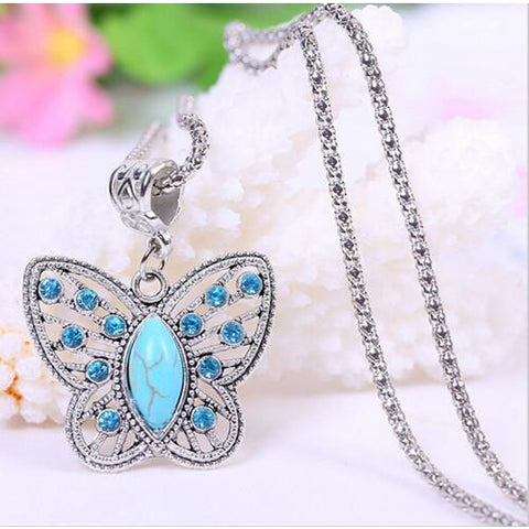 Silver plated necklaces & pendants Fashion Butterfly Tibetan Pendants - Abco... Store