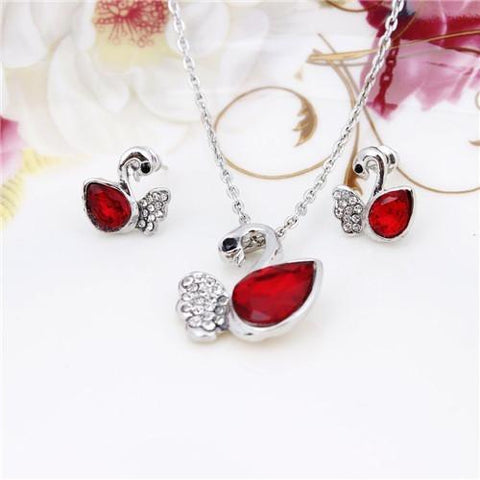 Crystal  Swan Jewelry Sets - Abco... Store